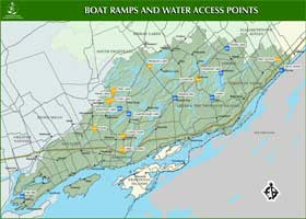 Small image of the boat ramp map.