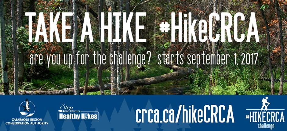 Take a Hike. #HikeCRCA. Join the Challnge Sept. 1