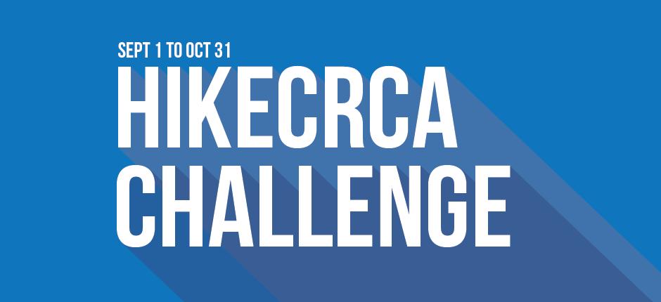 2018 Hike CRCA Challenge - Sept. 1 to Oct. 31